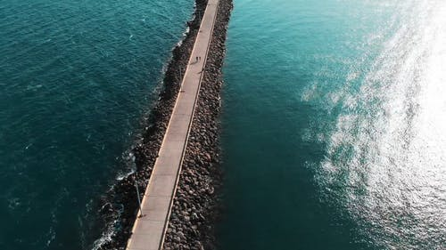 Aerial Shot of an Ocean