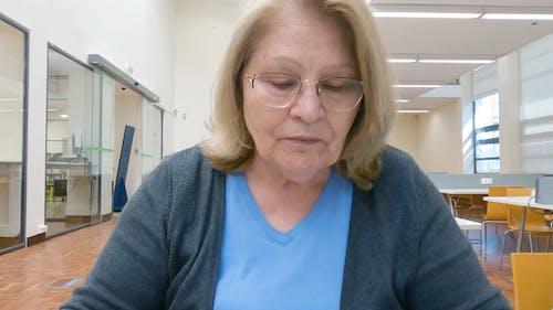 A Medium Close Up of an Elderly Woman