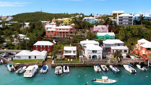 Drone Footage of Houses Near a Marina
