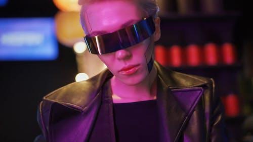A Woman Wearing Dark Sunglasses
