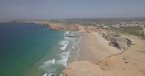 Drone Footage of a Coast in Portugal