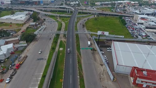 Drone Footage of Highway