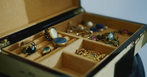 Close Up Video of a Jewelry Box