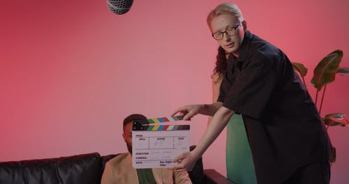 Actors Acting On Set Production while Doing Video Recording