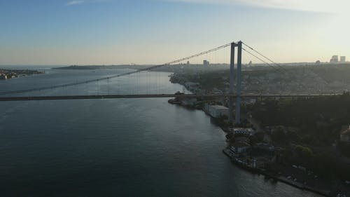 Aerial Shot of a Bridge