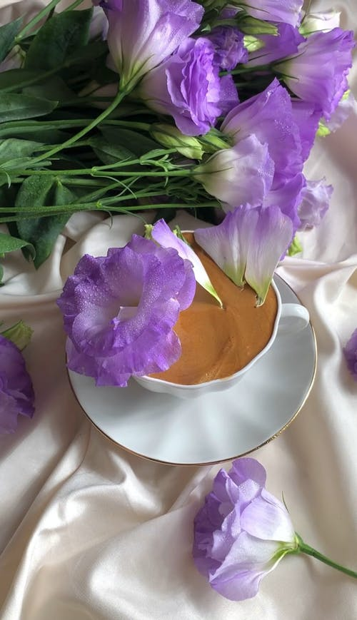 Petals Falling on a Cup of Coffee