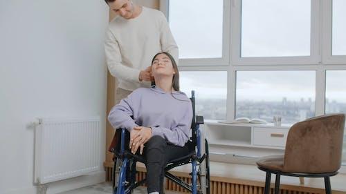 A Man Holding Woman's Hair