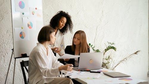 Three Women Working Together