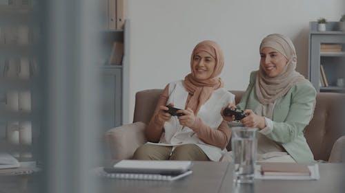 Women Playing Video Games