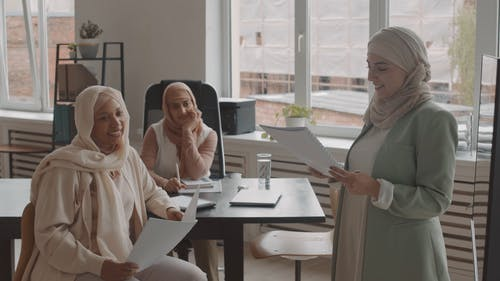 Women Working at Their Office