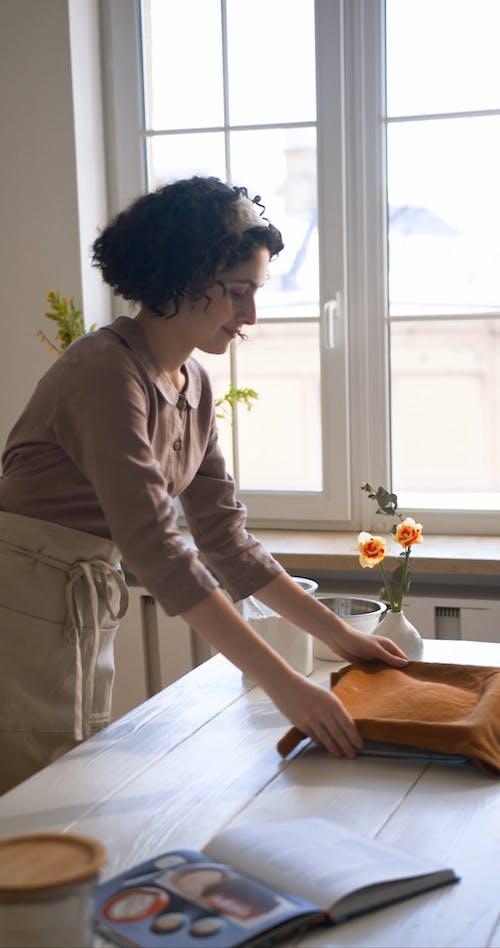 A Woman Baking
