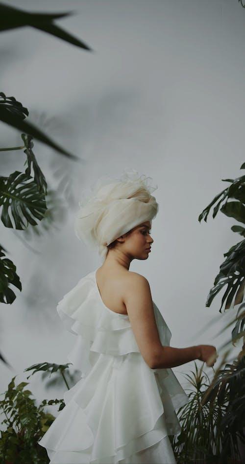Female Model Wearing a Wedding Dress