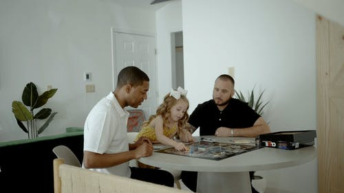 A Family Bonding over a Board Game