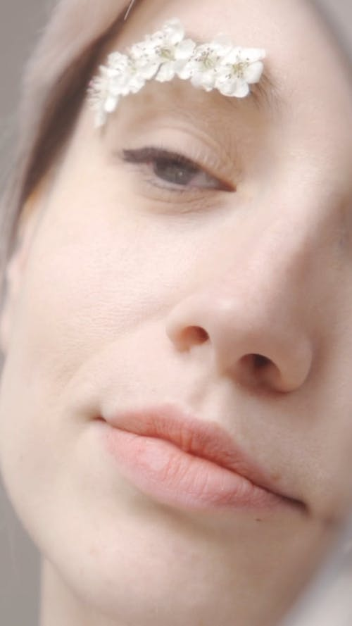Close-up Video of a Woman Face