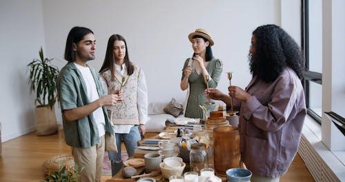A Group of Friends at a Swap Meet