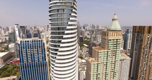 Drone Footage of High Rise Buildings