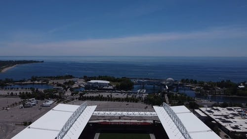 Aerial View of a Sports Stadium
