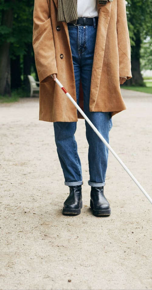 Person Using a Walking Stick