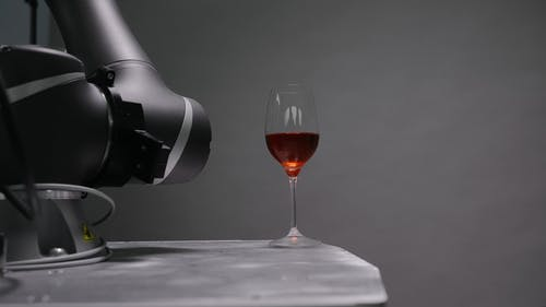 Robot Holding A Glass Of Wine