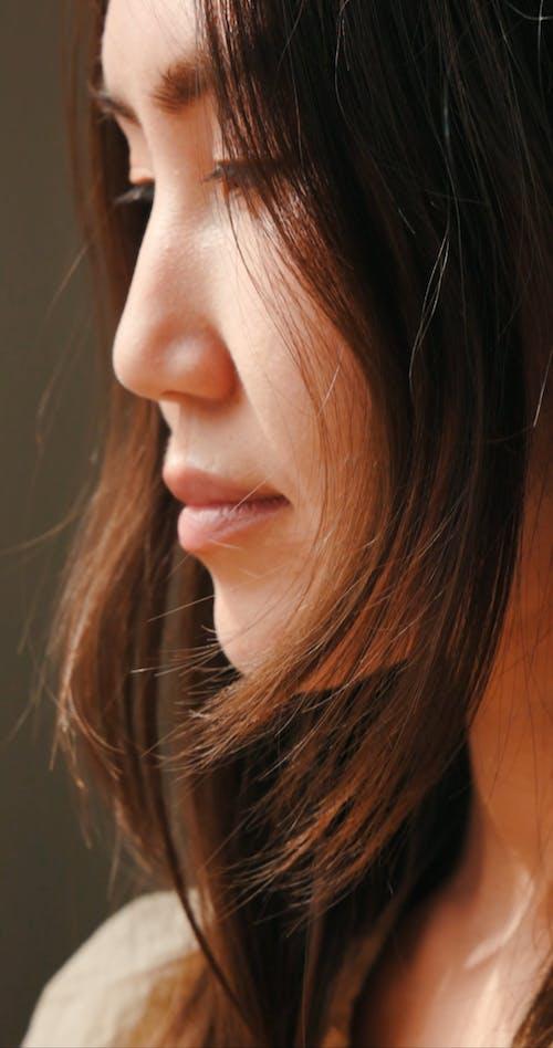 Closeup Video Of A Woman