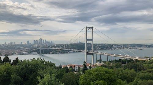 Vehicles Passing on Bosphorus Bridge