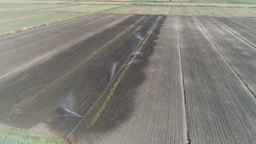 Drone Footage of a Wet Field
