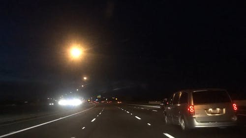 Time Lapse Footage of Fast Moving Cars on a Highway