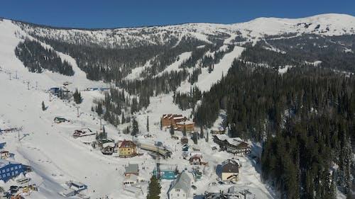 Aerial Video of a Ski Resort