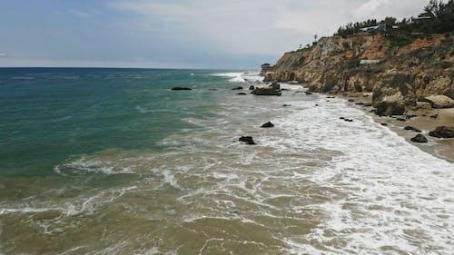 Drone Shot Of The Rocky Coastline