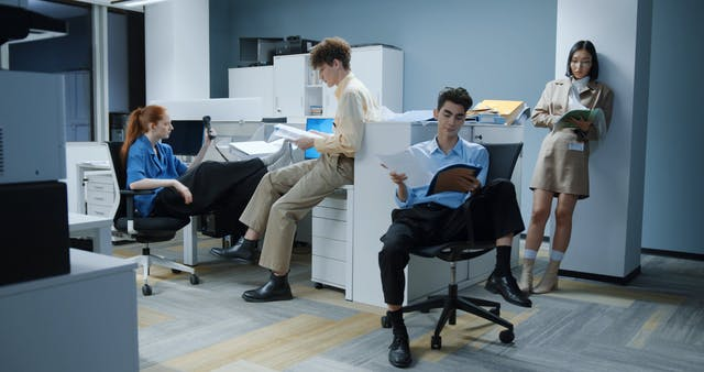 People Working At The Office