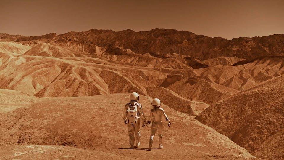 Astronauts Walking On Mars
