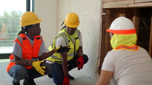 Female Workers at a Construction Site