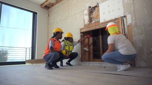 Women Working at a Construction Site