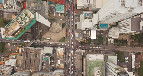 Drone Footage of a Busy Road