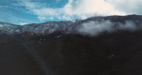 Aerial Footage of the Clouds In a Mountain