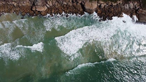 Tracking Shot of a Rocky Coastline
