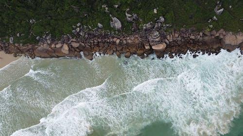 Tracking Shot of a Rocky Shoreline