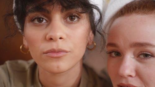 Closeup Of Women's Face