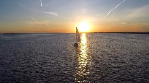 Sailboat Sailing During Sunset