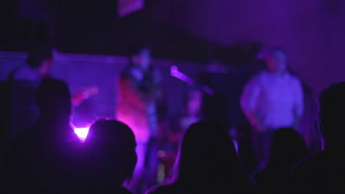 Indie Band Plays Music on Stage