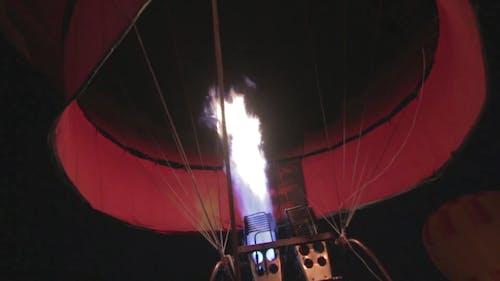 Hot-Air Balloon Heating Up