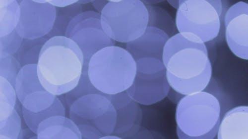 Abstract Blue Bokeh Flicker