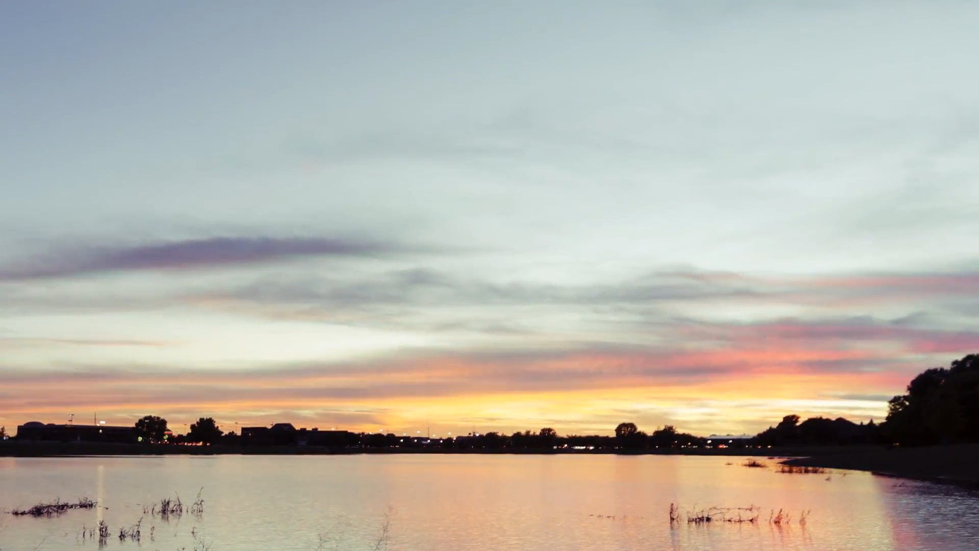 Sunset at a Lake