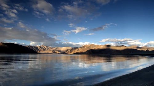 Mountains, Desert, Camels, Asia