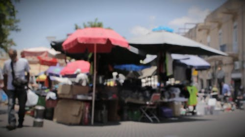 People at a market