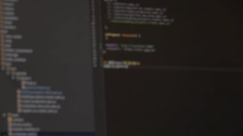 Blurred Video of Scripts Being Typed