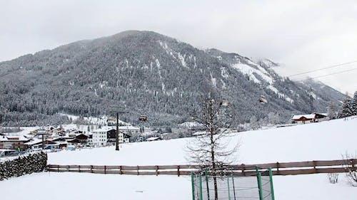 Ski Lifts Transporting People