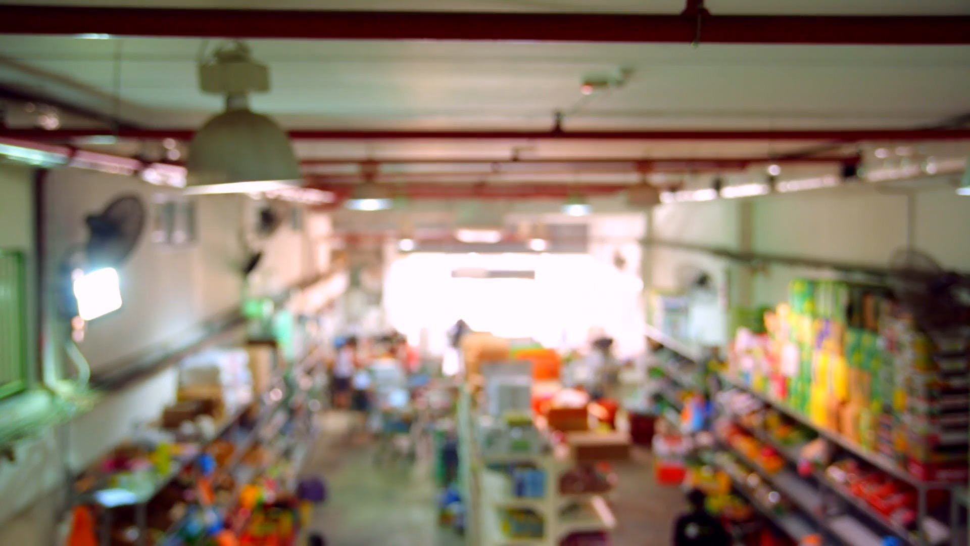 Blurry Footage of People Inside a Grocery Store