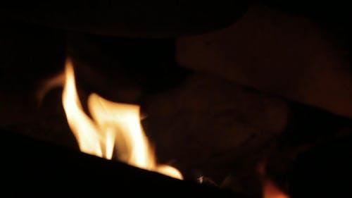 Dancing Flame Under a Pot