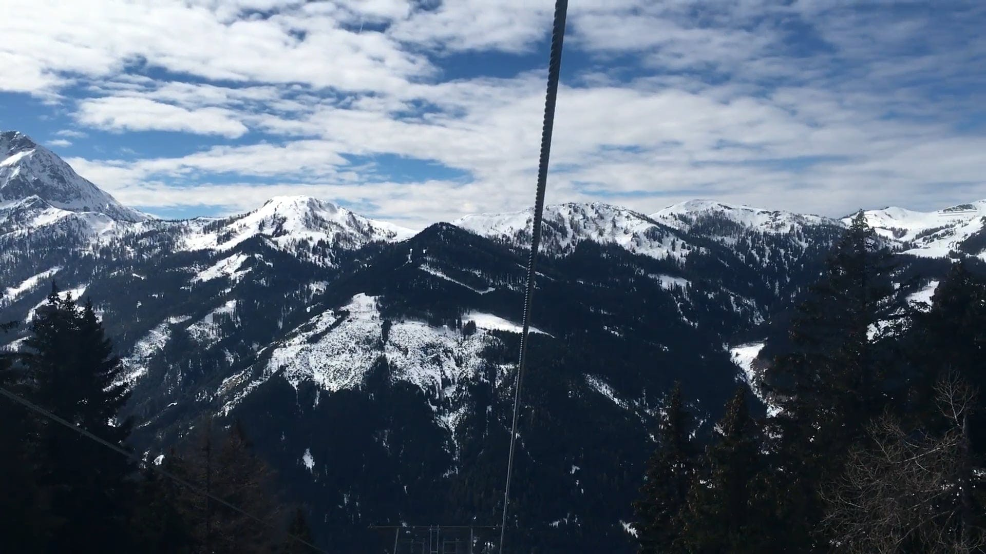 Mountain View Video While Riding A Ski Lifft